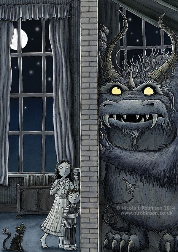 Nicola L Robinson Monster Listening Party Monster Illustration book illustration