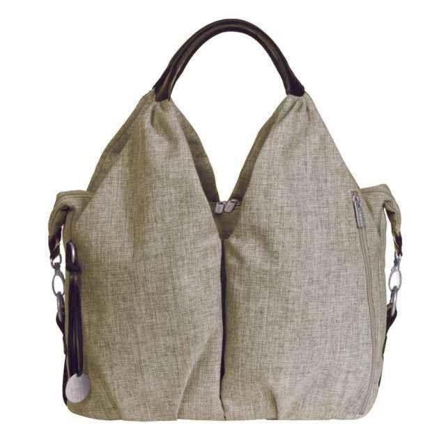 Lassig Neckline Nappy Bag - Choco Melange