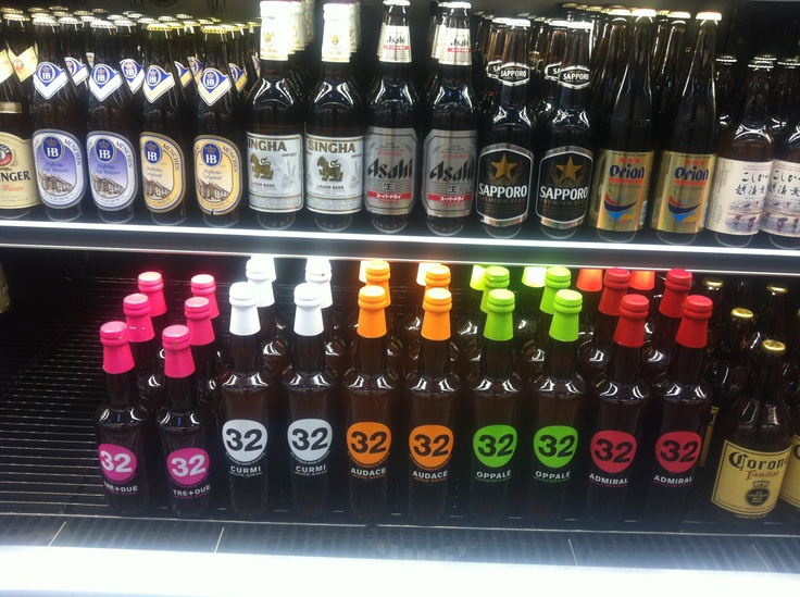 Not quite a  wine pic, but the famous craft beer 32 that we import in US from Treviso, Italy. Here at the WholeFood store in Oxnard!