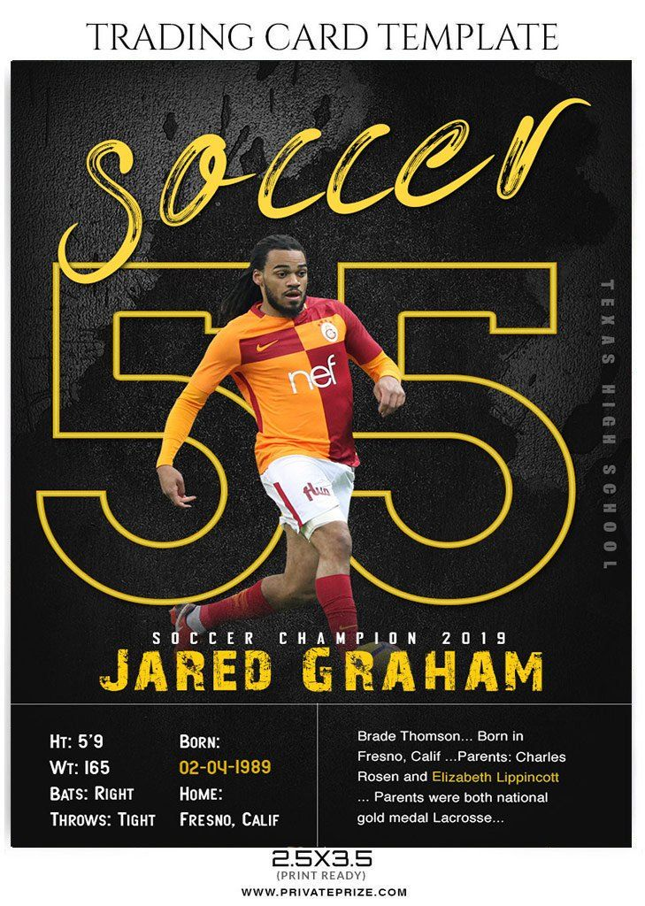 Jared Graham Sports Trading Card Template Trading Card Template Trading Cards Cards