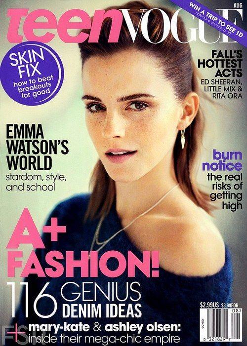 Emma Watson's got Teen Vogue (Aug 13) covered! Ph. Boo George