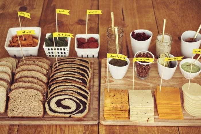 Build-Your Own Grilled Cheese Bar from 27 Unexpected Cocktail Hour Hors d'Oeuvres Slideshow