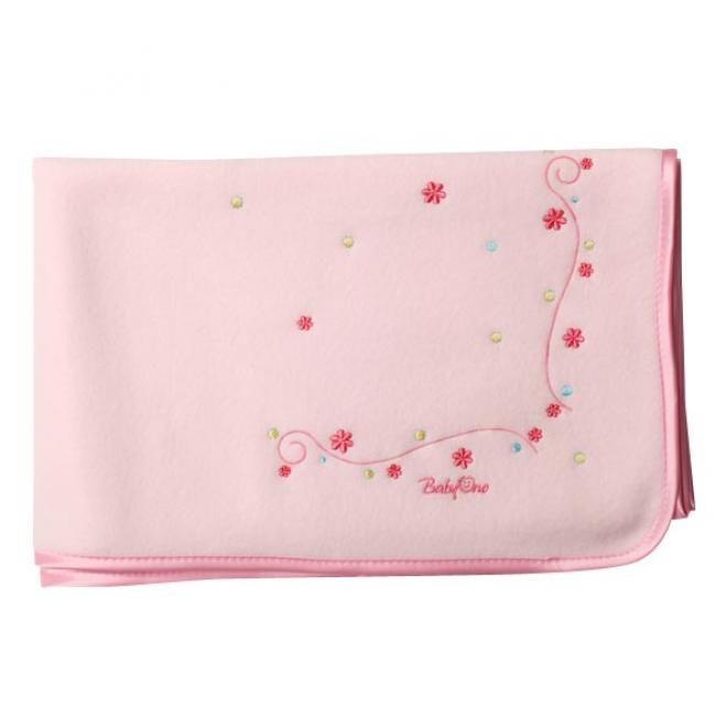 Одеяло флисовое розовое 90х110 см   Товары для детей в Молдове