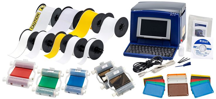 "Brady BBP31-LEANVW-KIT Sign and Label Maker, Blue/Gray. <b>Price For:</b> Each <b>Color Printing Capability</b>: Single Color <b>Max. Tape Width</b>: 4"" <b>Item</b>: Desktop Label Printer Kit <b>Warranty</b>: 5 yr. <b>Printhead Resolution</b>: 300 dpi <b>Printer Power Options</b>: AC Power <b>Label Formats Supported</b>: Continuous and Die-Cut Labels <b>Printer Kit Type</b>: Lean Visual Workplace Supply Kit <b>Printing Software Compatibility</b>: BRADY(R) Workstation, MARKWARE(TM) Tape…"