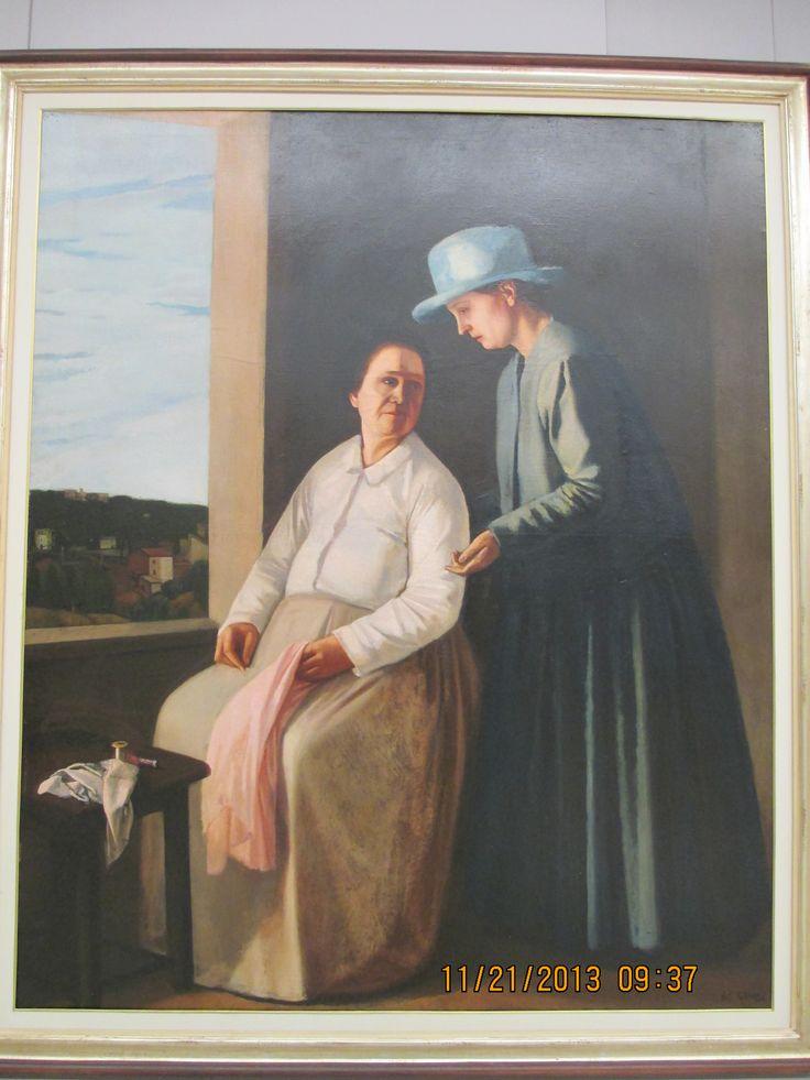 """Visitation"" by Virgilio Guidi, Oil on Canvas, 1922-1927."