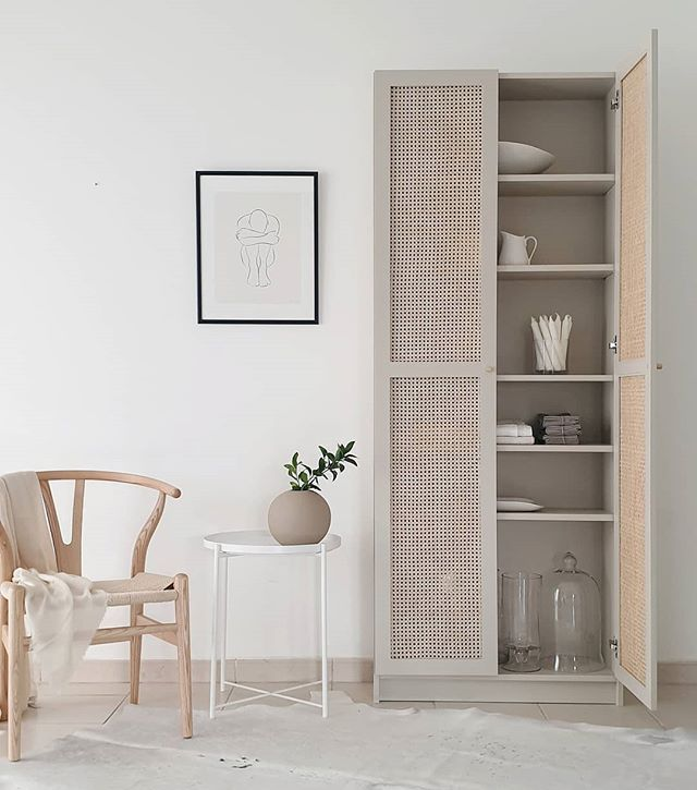 Billy Bookcase Ikea Hack Using Diy Caned Doors Kath Hawkes