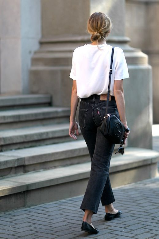 The White Tee And Black Jeans Look You Can Wear Year-Round