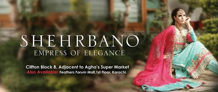 Shehrbano Wedding Wear 2013 With Model Nadia Hussain 03
