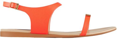 Sandales en cuir orange fluo, Stella McCartney