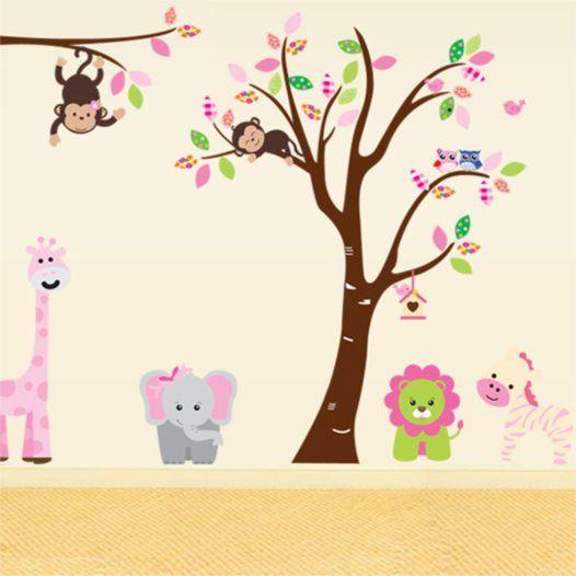 Hemdekor - Väggdekor Elefanten och lejonet med vänner