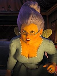 Jennifer Saunders as the voice of the Fairy Godmother in Shrek 2 (2004)