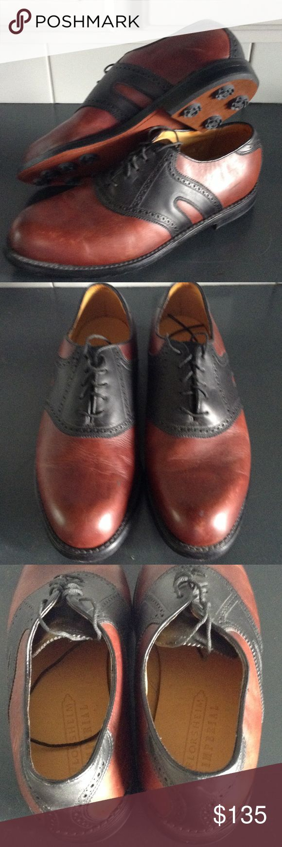 Florsheim Imperial NEW Leather Golf Shoes Men's Bought new and never used Leather uppers and Leather Soles Soft Spikes These shoes are very nice size 10D Florsheim Shoes Athletic Shoes