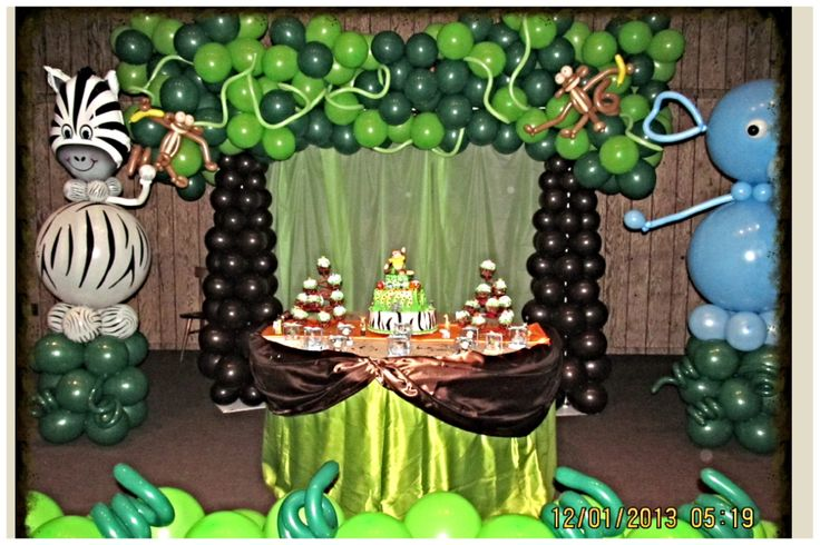 Safari / Jungle theme Birthday or Baby shower . NYC Balloon Squad