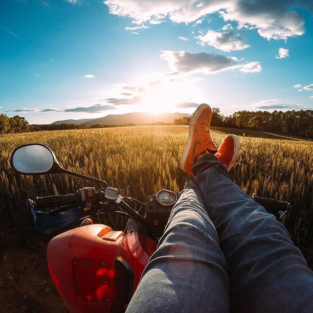 Photo of the Day! @joelcg13 kicking back and taking in a beautiful #sunset.  Where are you watching the summer sunset tonight? #GoPro #GoProES #☀️
