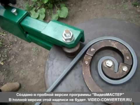 CREAMEX JRJ  dobladora manual de caracoles de solera. - YouTube