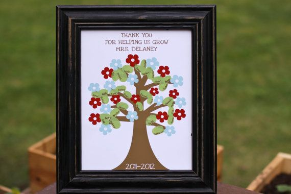 Personalized Teacher Appreciation Tree  8x10 Print by PlumAdorable, $12.00