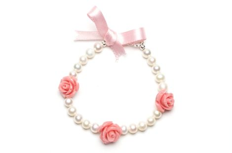Rosy Posy bracelet / Baby Pink