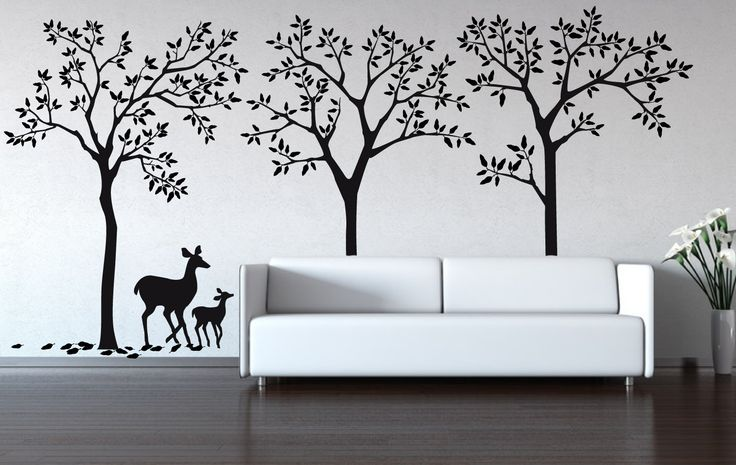 "Wall Decal - Urban Forest decal removable matte wall stickers 90"" x 187 1/2""  Tree Wall Decals. $159.00, via Etsy."