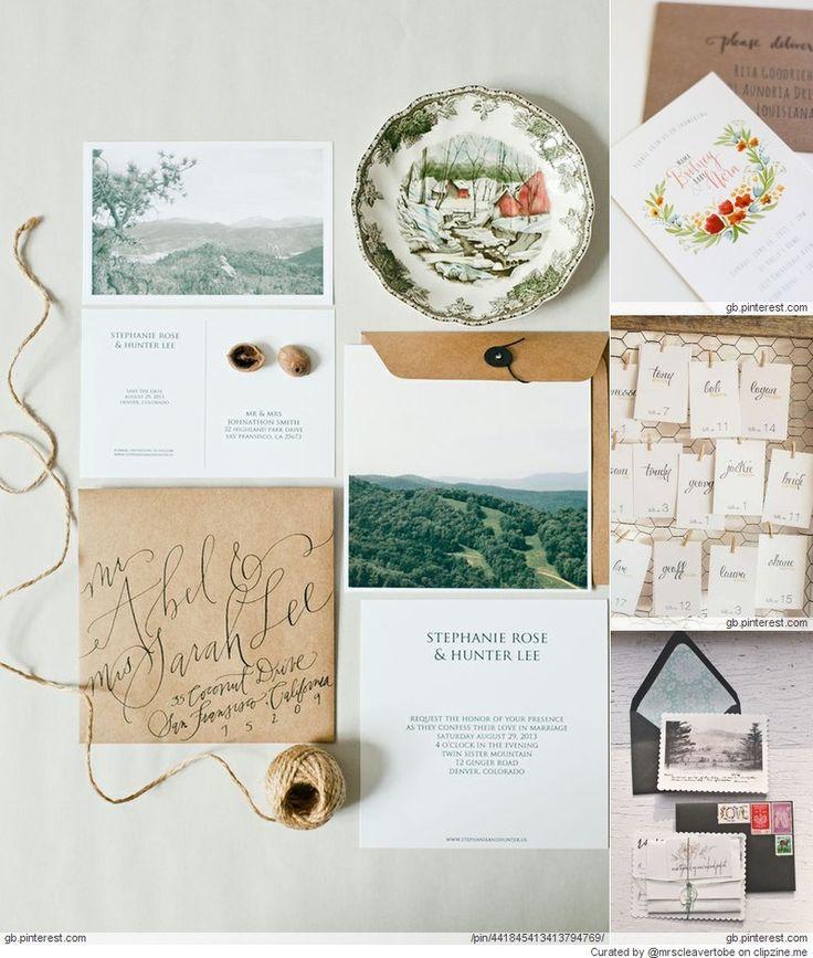 Rustic Woodland Wedding Invites
