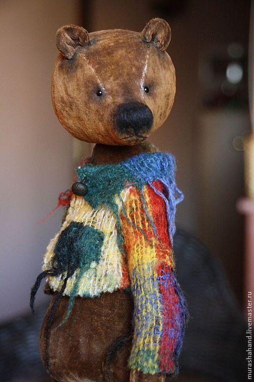Купить Мишка коричневый в пиджачке (31см) (друзья тедди) - антикварный плюш, любимый, интерьерная игрушка