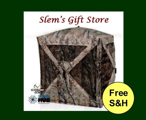 Perfect gift for your hunter!  Crossbow Blind Ameristep Crossbones Realtree® hunting camouflage camo easy setup  @119.95 free s http://stores.ebay.com/Slems-Gift-Store  or order directly from me at dslem3@yahoo.com for 10% off your order!