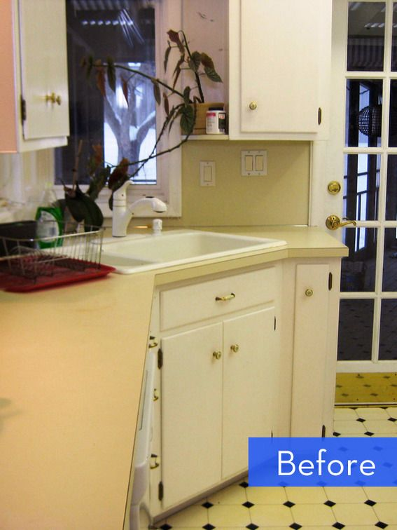 Before and After A Budget-Friendly Kitchen Makeover Recycled