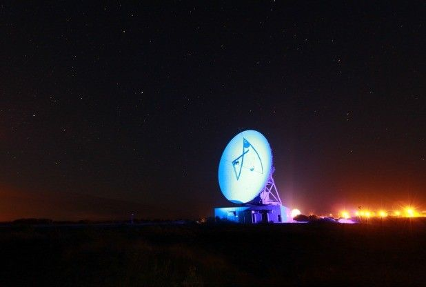 Goonhilly Earth Station on the Lizard, Cornwall