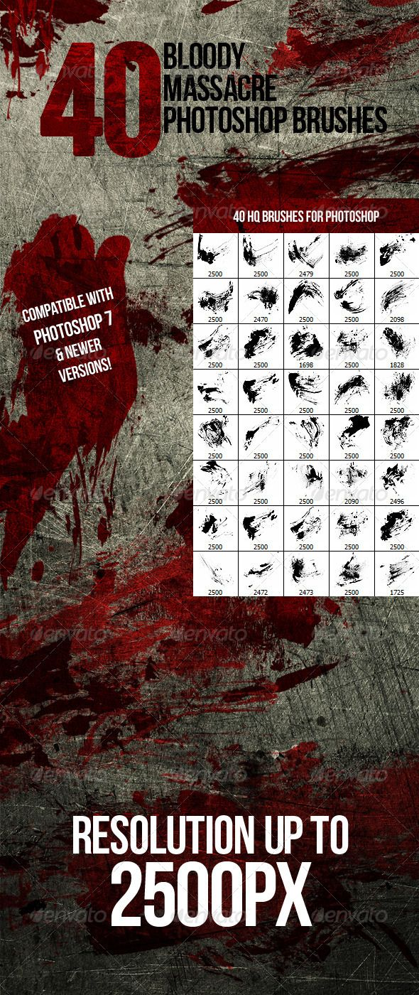 19 best add ons images on pinterest font logo fonts and photoshop 40 bloody massacre photoshop brushes ccuart Images