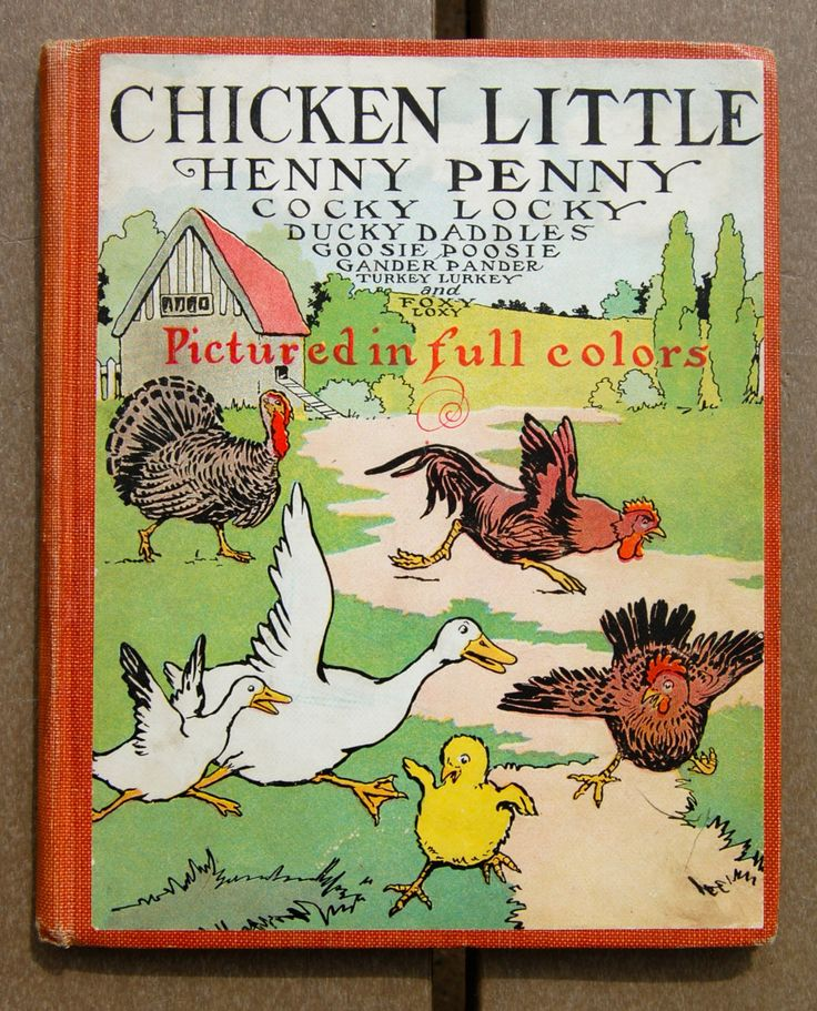 Chicken little henny penny vintage antique children 39 s for Henny and paint