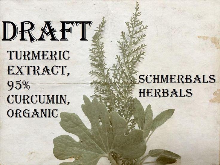 Turmeric Extract, 95% Curcumin, Powder (Organic) ~ Schmerbals Herbals