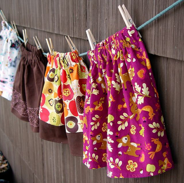 easy-peasy skirts - make these! Also shows you.how to make a french seam