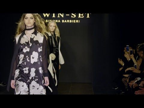TWINSET Simona Barbieri Fall Winter 2016/17 Collection Fashion show - YouTube
