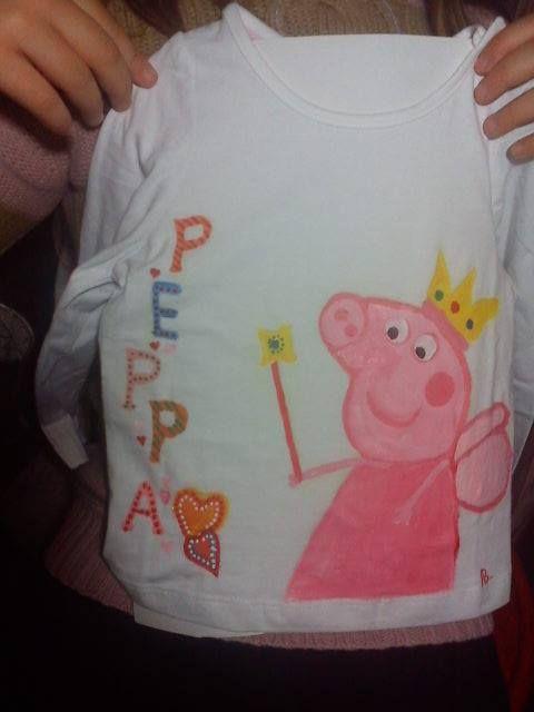 handpainted t shirt pepa.https://www.facebook.com/pages/Anastasias-art-gallery/334822676627889?fref=ts