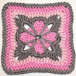 Cute Grannie Square Free Pattern