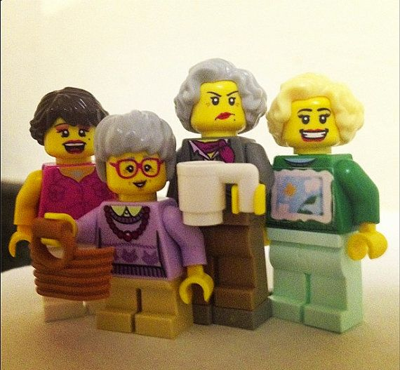 Someone made Golden Girls Legos. What. **** The Golden Girls Brick People Toy Set by GoldenBrickLadies on Etsy