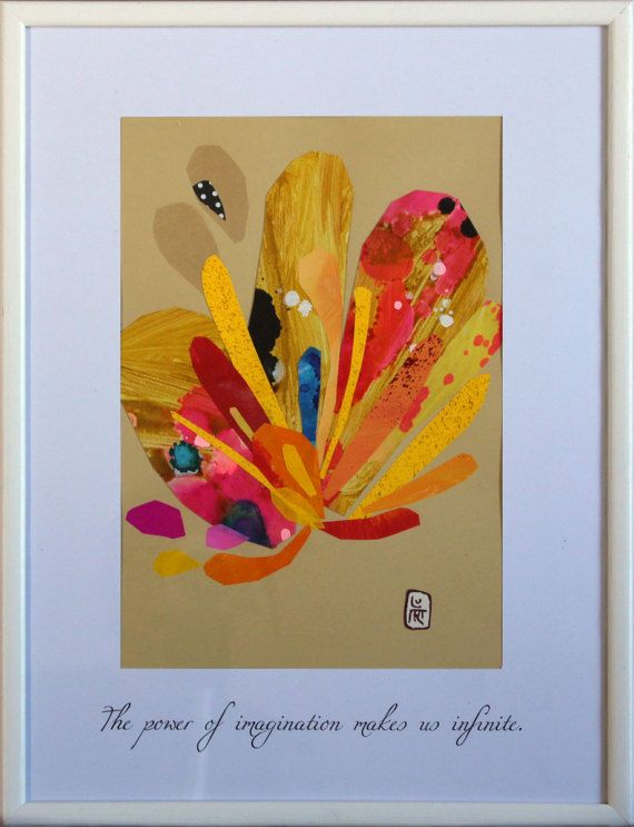 Picture Collage Art of Flower with a Positive Quote (#006).