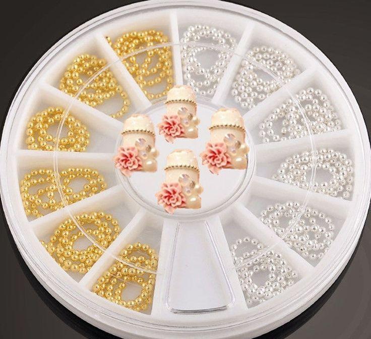 1-Set Great Popular 3D Acrylic Rhinestones Nail Art Wheel Accessory Decor Colorful Decor Case Fashion Pattern Style
