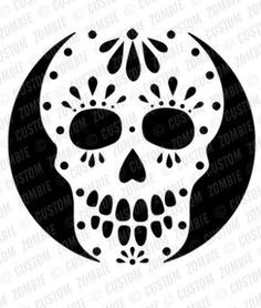 pumpkin carving stencils day of the dead google search halloween pumpkin carving templates. Black Bedroom Furniture Sets. Home Design Ideas