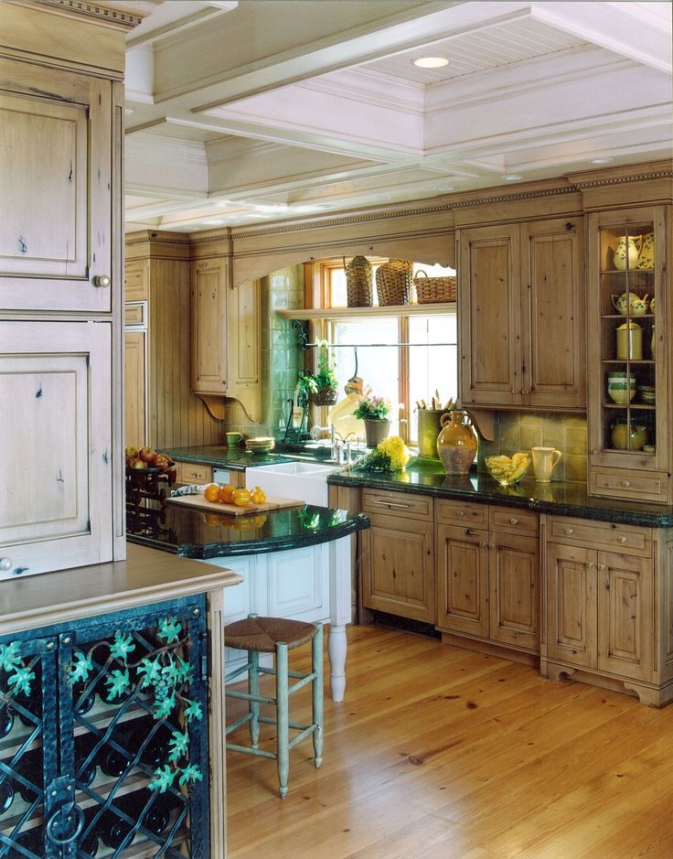 Handmade French Country Kitchen Remodel Of Wood Stone Metal By Cabinets Design Iron