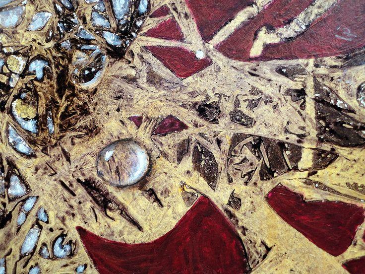 acrylmalerei abstrakt folientechnik / Gerda Lipski