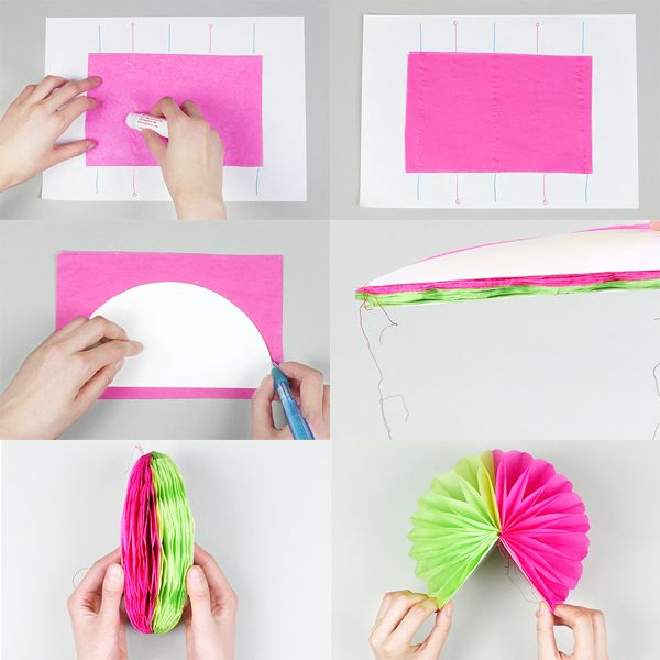 Las 25 mejores ideas sobre pompones de papel seda en - Pompones con papel de seda ...