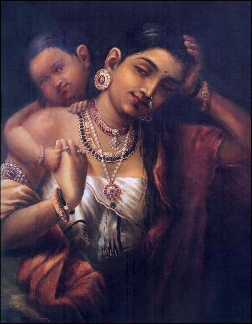 ravivarma-painting-yasodha-and-krishna