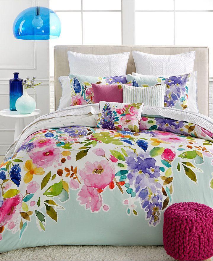 """bluebellgray Wisteria Mint Twin/Twin XL Comforter Set"""