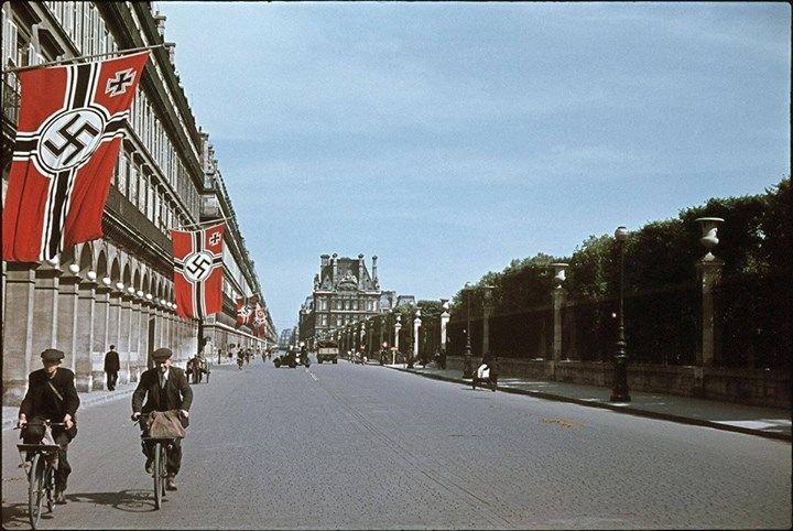 Rue de Rivoli sous lu0027occupation Allemande Paris, Rivoli Straße