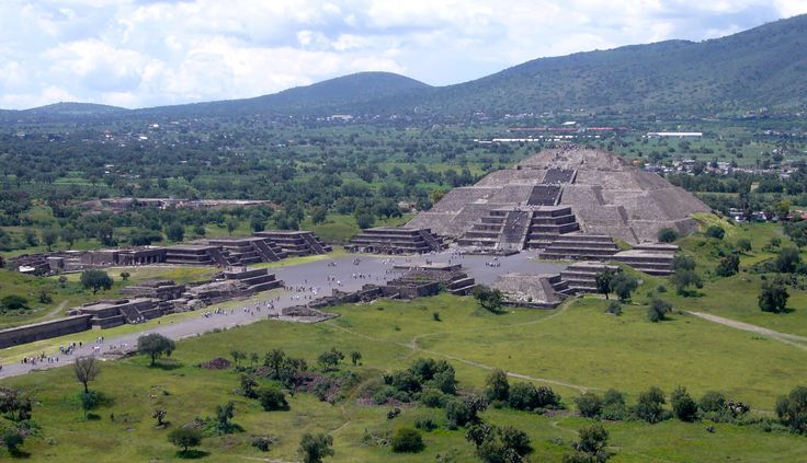 Teotihuacan an ancient city located in Mexico started in the year 200 B.C.E. It arose during the Aztec civilization and was utilized as a place of worship by the Aztecs for the sun god. It has large pyramids that were used to determine time and day.
