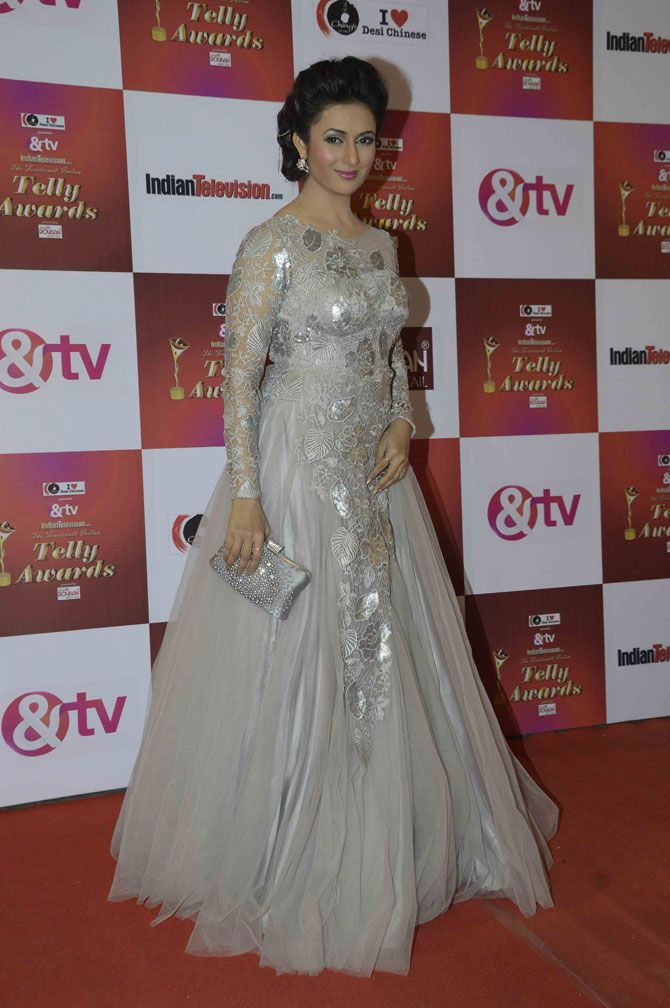 Divyanka Tripathi at the Indian Telly Awards 2015. #Bollywood #Fashion #Style #Beauty #Hot #Sexy
