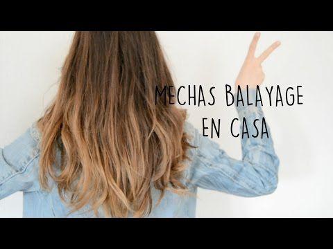 Cabello con mechas Balayage y degradado de color. Brown balayage ombre Hair Tutorial - YouTube