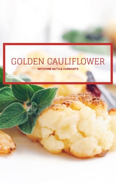 Daphne Oz whipped up a great Golden Cauliflower with Currants and Pine Nuts recipe for The Chew's $5 Thanksgiving Feast episode, which comes in at just under 87 cents a serving. http://www.recapo.com/the-chew/the-chew-recipes/chew-daphne-oz-golden-cauliflower-pine-nuts-currants-recipe/