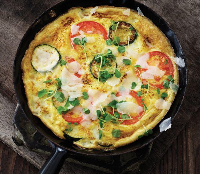 Omelet med squash