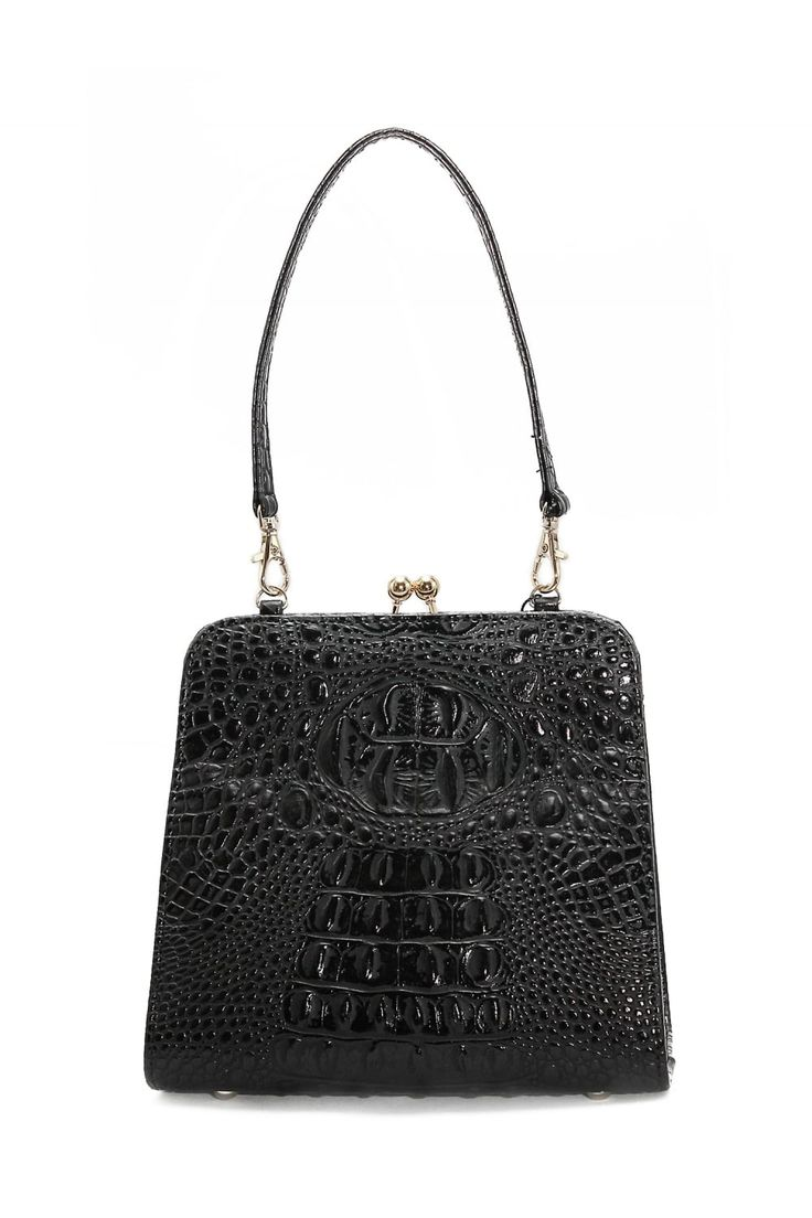 Collectif Accessories Marie Kiss Lock Bag - Collectif Accessories from Collectif UK